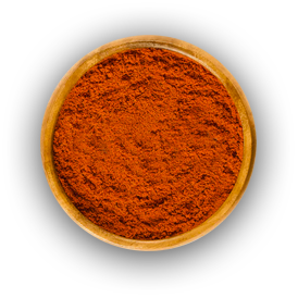 Bowl of ground smoked paprika